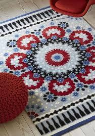 nomadic nom02 rugs in red grey blue capitalrugsuk