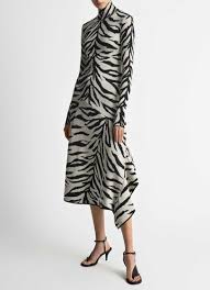 Iman Open Back White Black Tiger Dress