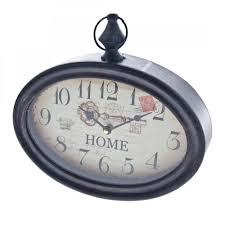 heaven sends home oval pocket watch style wall clock