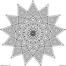 Coloring Pages Complex Geometric Fancy Idea Printable Plexs Mandala