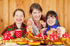 Women in russia russian food