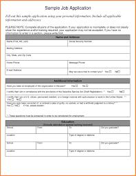 Job Applications Sample 8 Jobs Application Sample Leave Latter