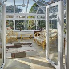 pvcu white onservatory french doors