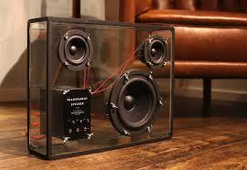 home speaker design people s transpa speaker is a crowdfunded diy megahit inhabitat green design