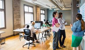 interior design office jobs. Group Of People Collaborating In An Office Interior Design Jobs
