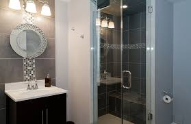 basement bathroom ideas pictures. Simple Ideas Stunning Basement Bathroom Ideas With Walk In Shower Glass Door And  Vanity Units Sink To Basement Bathroom Ideas Pictures