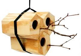 wooden birdhouse design in hexagon shape