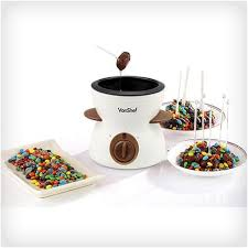 chocoholics must have gift chocolate fondue set smiley face gifts holiday gifts
