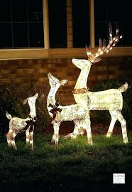 yard decorations wooden reindeer light up outdoor xmas lawn the range woode