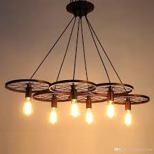 55 most outstanding hanging edison bulb chandelier with metal retro ceiling lamp light wheel pendant