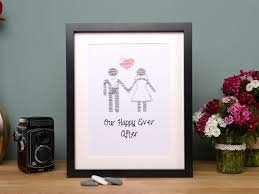 little gems personalised wedding frame