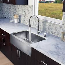 vigo vg15203 stainless steel 33 single basin farmhouse a front kitchen sink with brant stainless steel finish faucet and soap dispenser sink