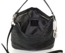 Coach 23279 Black Park Signature Hobo Shoulder Handbag