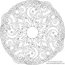 Small Picture Dont Eat the Paste Celestial Mandala box card and coloring page