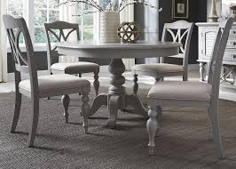 Round Kitchen Table Bassett Round Kitchen Table Rustic Table
