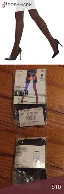 Hue Control Top Tights Size Chart Hue Opaque Expresso Tights Never Been Worn Opaque Control