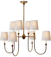 visual comfort tob5008hab np thomas obrien vendome 8 light 36 inch hand rubbed antique brass chandelier ceiling light