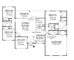 3 Bedroom Open Floor House Plans Ideas Cool Decorating