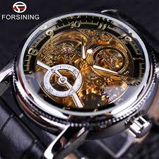 aliexpress com buy forsining classic black red automatic watch forsining classic black red automatic watch men military alloy case real genuine leather strap watches luxury