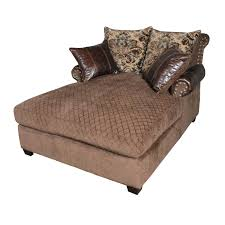 glamorous oversized chaise lounge sofa design brown velvet double chaise lounge chair with brown leather chaise lounge sofa