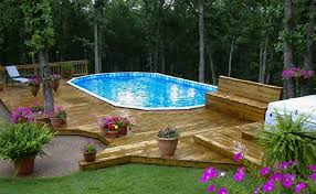 If you like the round above ground pools, this one by intex is a great option. Amazing Above Ground Pool Design Trends Maytronics