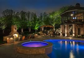 outstanding around pool lighting also swimming lights ideas gallery images