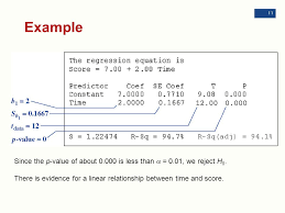 example since the p value of about 0 000 is less than a 0 01
