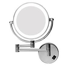 excelvan led make up mirror 8 inch double sided swivel lighted wall mount makeup mirror