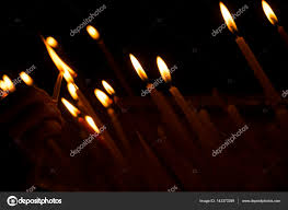 Lighting Candles Woman Hand Lighting Candles In A Church Candles And The