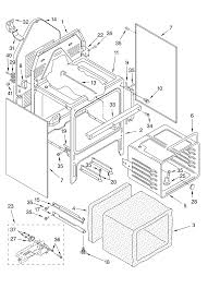 whirlpool gjp84802 standing electric timer stove clocks gjp84802 standing electric oven chassis parts diagram