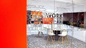 wall art for office. Decoupage Wall Art For Office Space Was Commissioned To Design And Produce Bespoke Orange Treatments