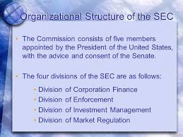 14 1 Organizational Structure Of The Sec The Commission
