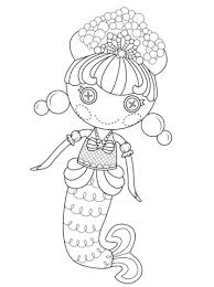 Small Picture Lalaloopsy Bubbly Mermaid coloring page Free Printable Coloring