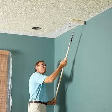 a professional home painter shares his tips for painting both smooth and textured ceilings with
