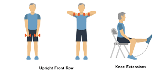 upright front row knee extentsions