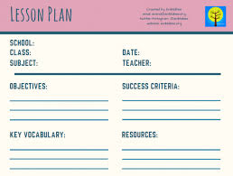 Lesson Plan Sheets 11 Free Lesson Plan Templates For Teachers