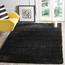 safavieh california cozy plush black area rug perfect 8 x 10 area rugs