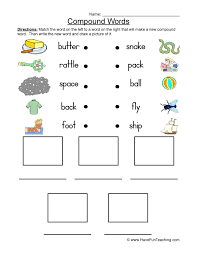 Both puzzle amateurs and pros are invited to play dot games because. Connect And Draw Compound Words Worksheet Have Fun Teaching