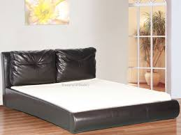 Brown Faux Leather Bed Frame - 4ft 6