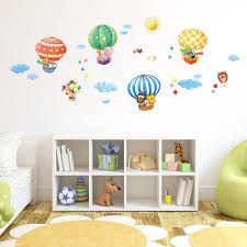 Amazon.com: Decowall DA-1406B Animal Hot Air Balloons Kids Wall Decals Wall  Stickers Peel and Stick Removable Wall Stickers for Kids Nursery Bedroom  Living ...