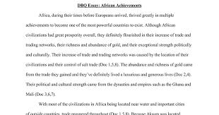 dbq essay african achievements google docs