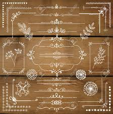 page rustic elements. Decorative White Rustic Floral Corners, Branches, Frames, Dividers, Text Border Page Elements