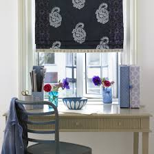 classic blue home office home office decorating ideas patterned blinds housetohome blue home office