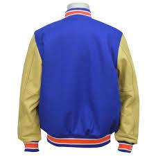 nba knicks jacket wool leather varsity jacket mitchell ness mitchell ness