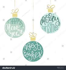 hanging christmas ornaments vector. Set Of Three Hanging Christmas Ornaments Vector Illustration For