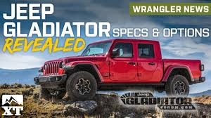 Jeep Gladiator Pickup Truck Revealed & Full Specs and Option ...
