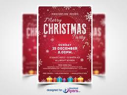 Christmas Party Flyer Template Psd Flyer Psd