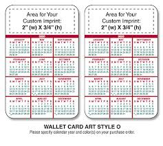 two year calender promotional laminated wallet cards wallet calendar cards
