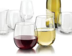 libbey vina stemless 12 piece wine glasses set