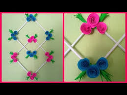 diy paper flower wall hanging easy wall